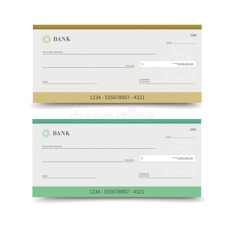 Isolerad bankkontroll royaltyfri illustrationer