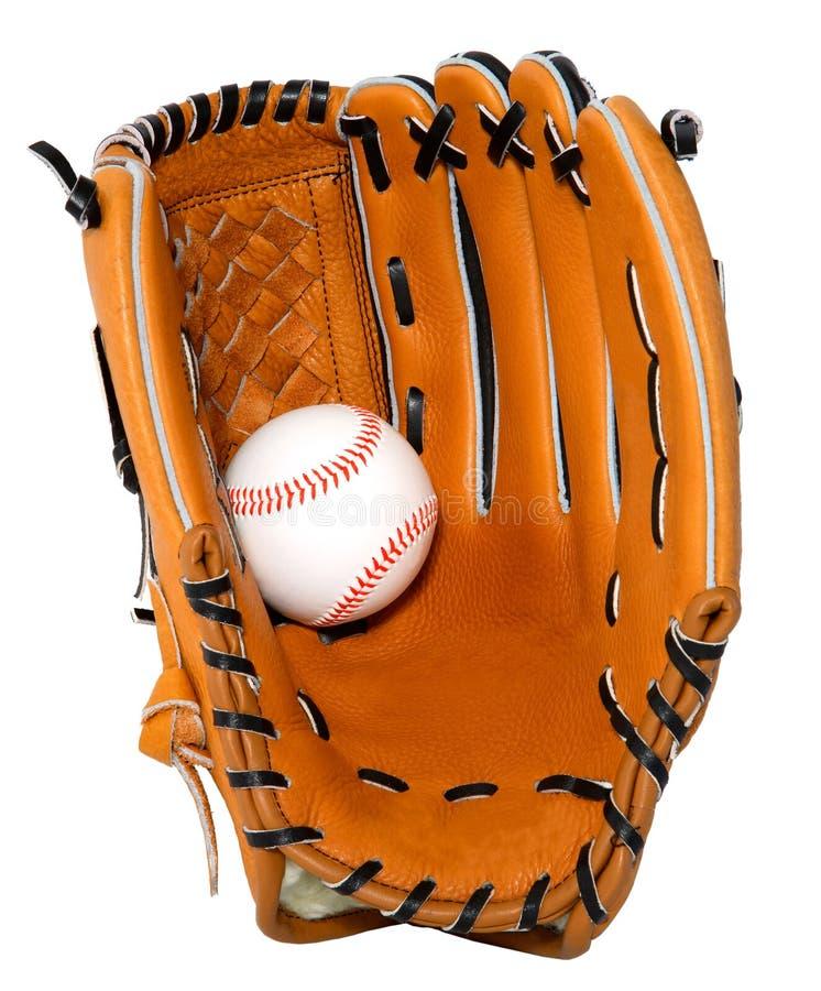 isolerad baseballhandske arkivbild