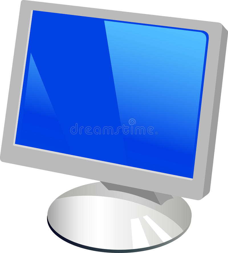 isolerad bildskärmwhite för bakgrund dator stock illustrationer