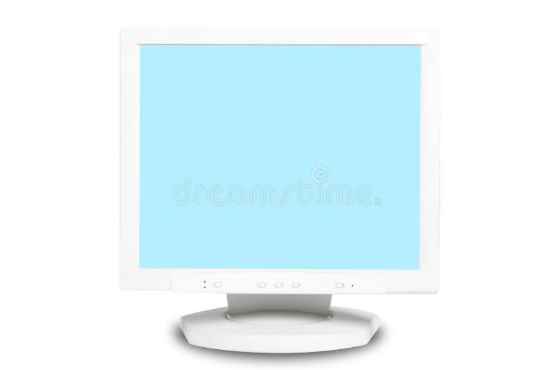 isolerad bildskärmwhite för bakgrund dator arkivbild