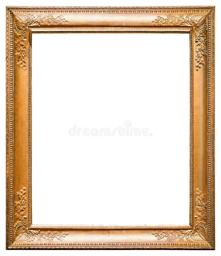 isolerad bildwhite för ram guld royaltyfri fotografi