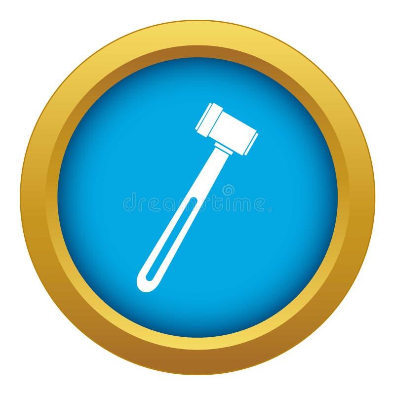 Isolerad blå vektor för medicinsk hammaresymbol royaltyfri illustrationer
