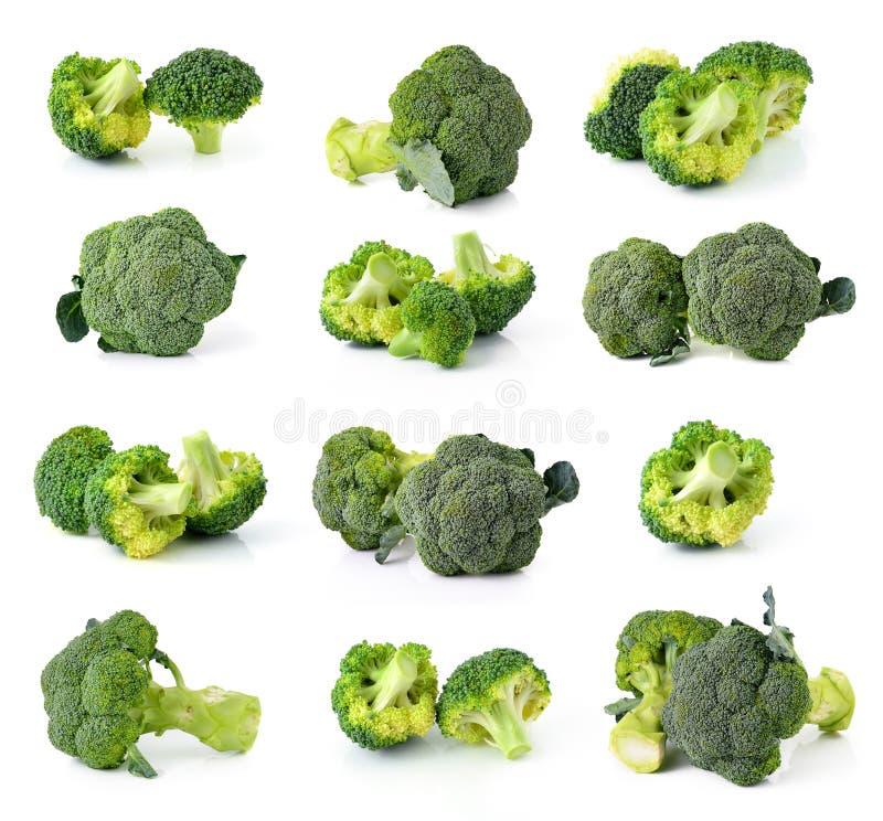 isolerad broccoli arkivfoto