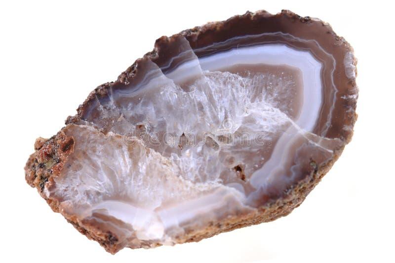 Isolerad brun agat arkivbilder