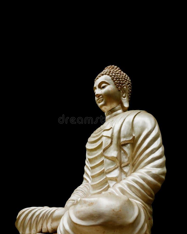 Isolerad Buddha staty arkivbild