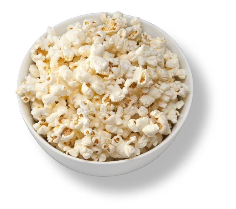 Isolerad bunke av popcorn fotografering för bildbyråer