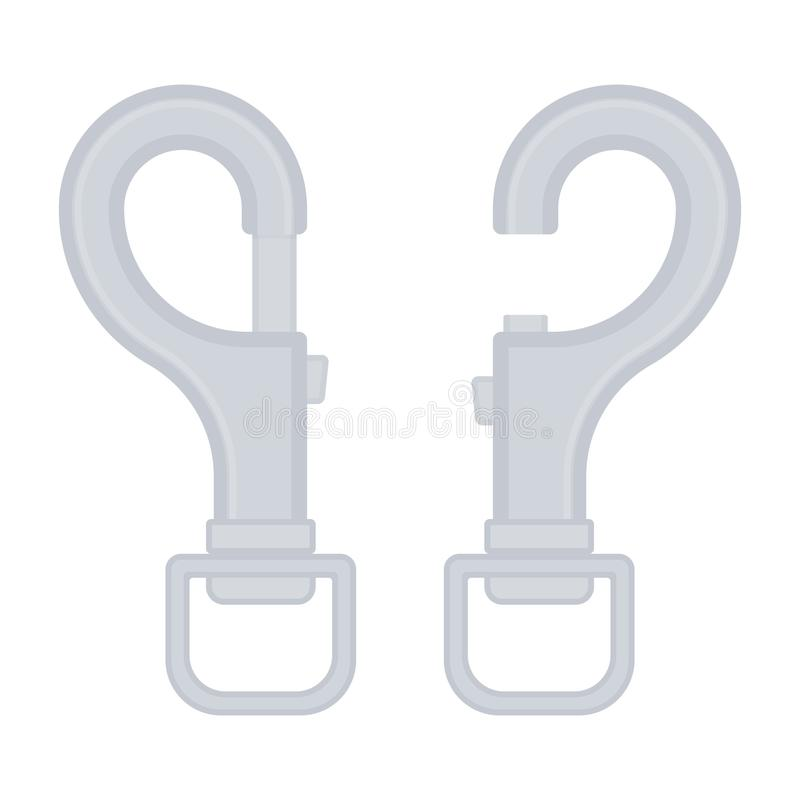Isolerad Carabiner symbol royaltyfri illustrationer