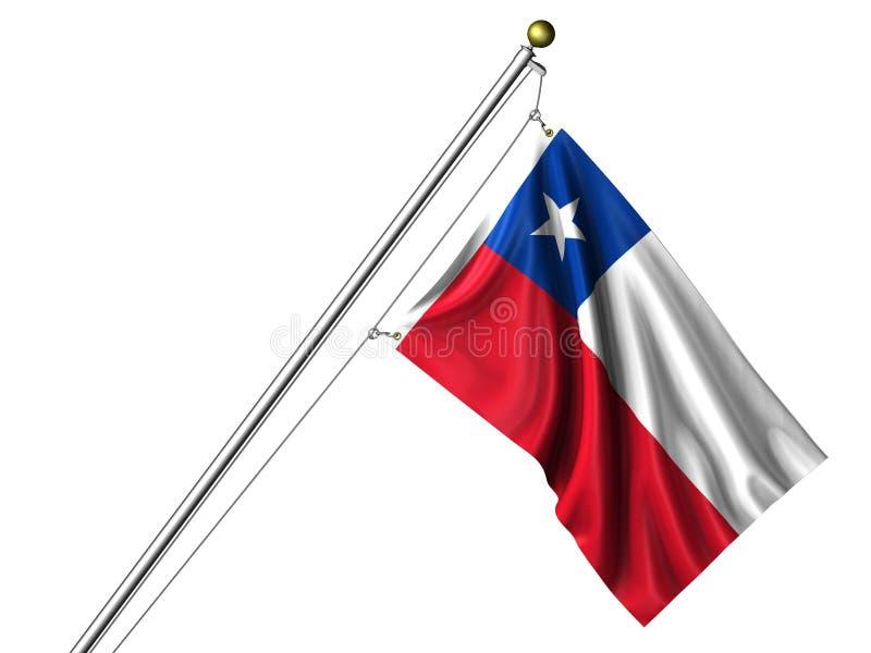 isolerad chilensk flagga vektor illustrationer