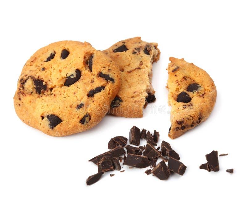 isolerad chipchokladkaka arkivfoto