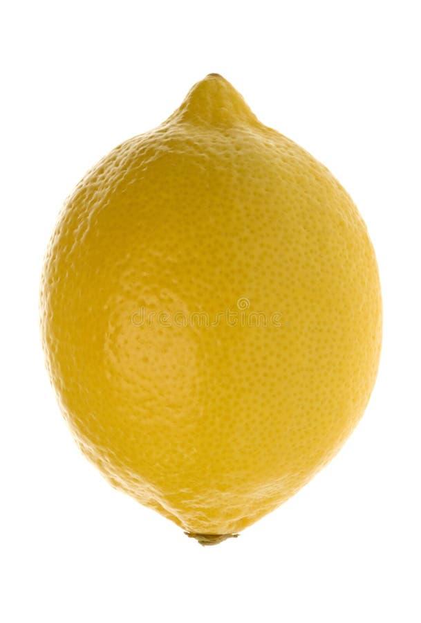 isolerad citronmakro arkivbild