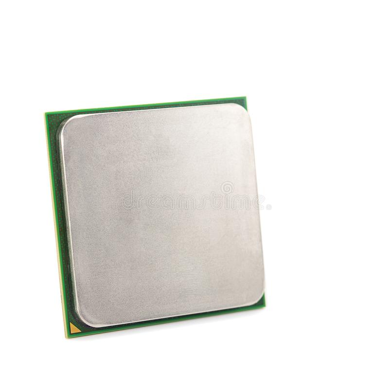 Isolerad CPU-närbild arkivbild