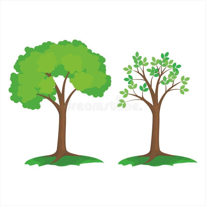 Isolerad död trädvektor med enkel design royaltyfri illustrationer