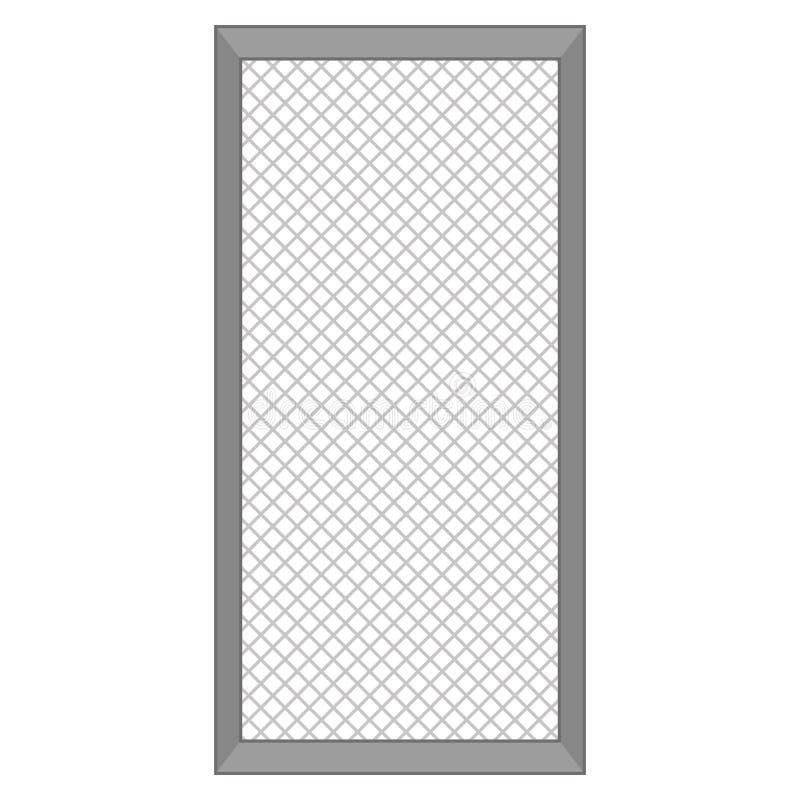 Isolerad dörrillustration stock illustrationer