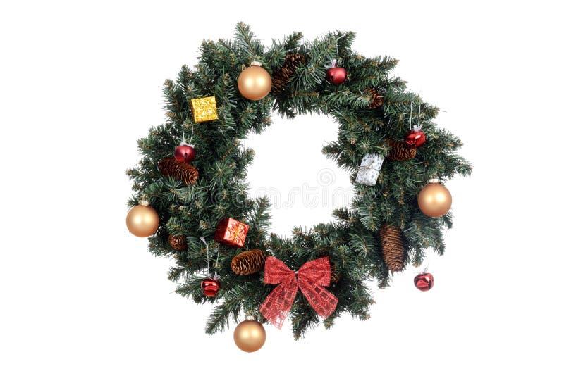 Isolerad dekorerad julkran fotografering för bildbyråer