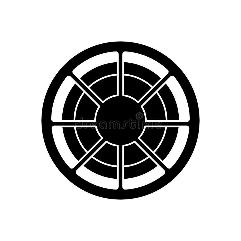 Isolerad design för filmrulle vektor illustrationer
