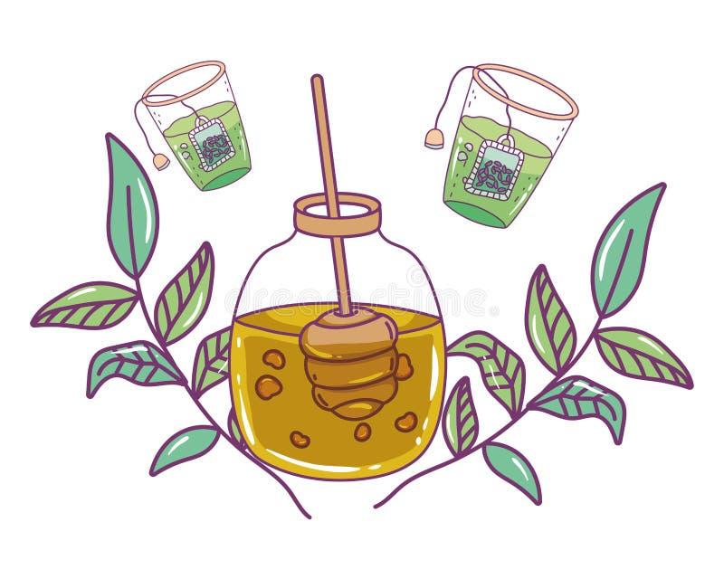 Isolerad design för honungkrusvektor vektor illustrationer