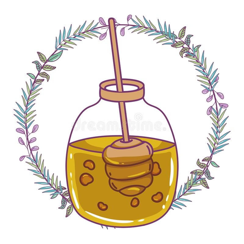 Isolerad design för honungkrusvektor royaltyfri illustrationer