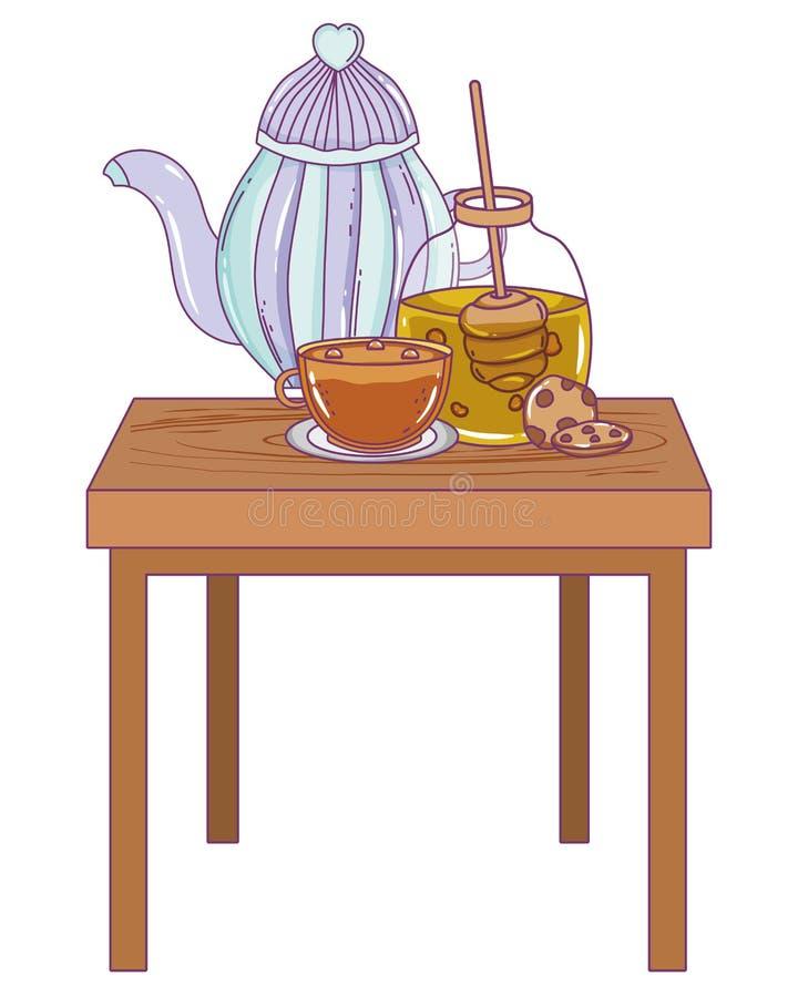 Isolerad design för kaffekrukavektor vektor illustrationer