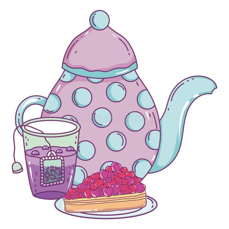 Isolerad design för kaffekrukavektor stock illustrationer