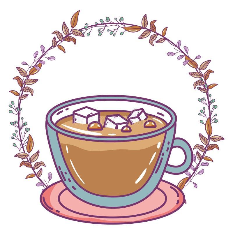 Isolerad design för vektor för kaffekopp vektor illustrationer