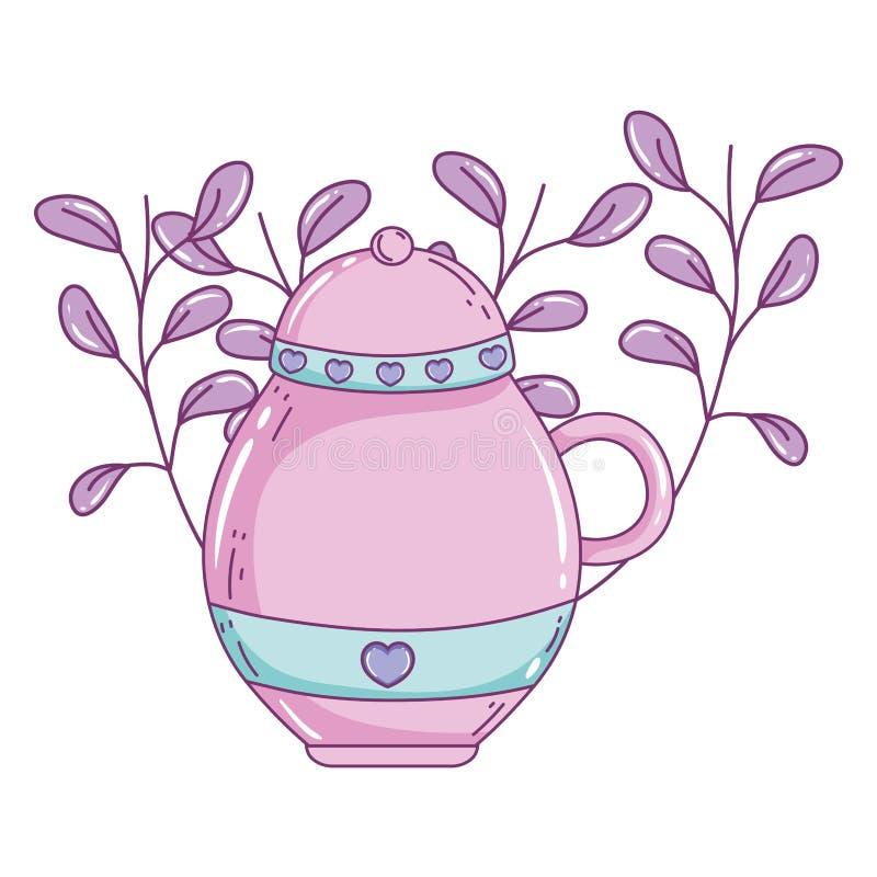 Isolerad design för vektor för sockerbunke royaltyfri illustrationer
