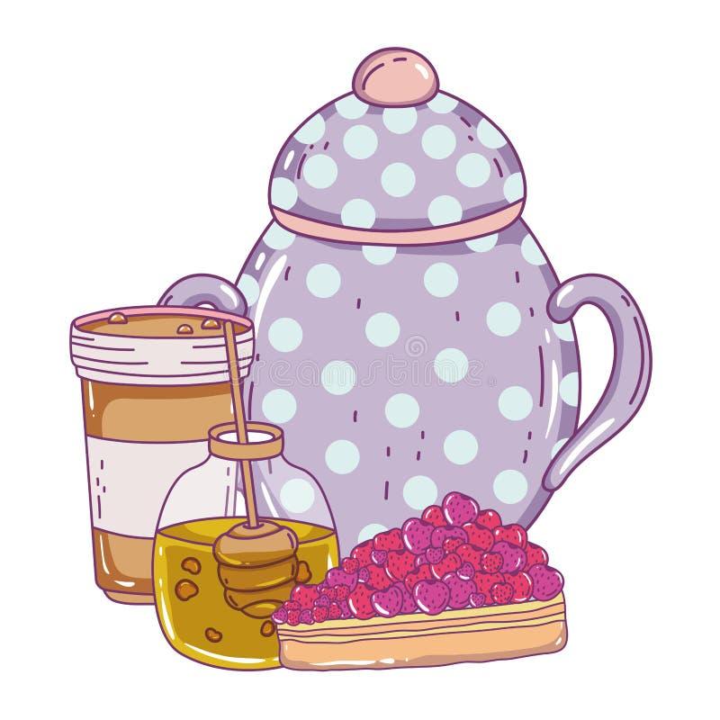 Isolerad design för vektor för sockerbunke vektor illustrationer