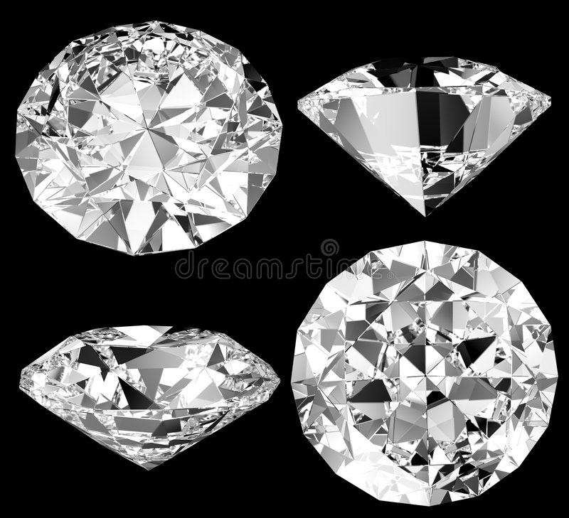 isolerad diamant royaltyfri illustrationer