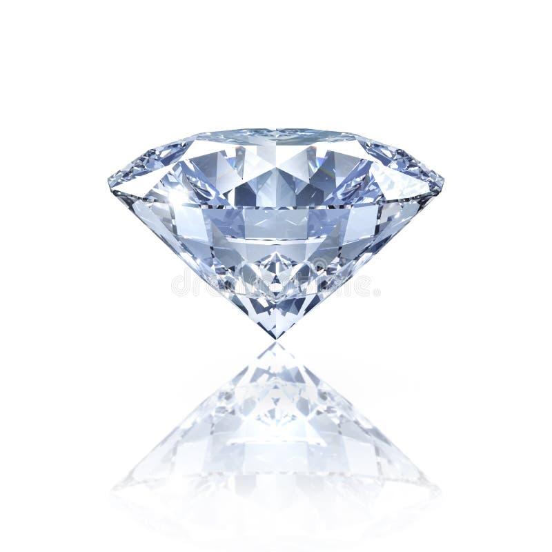 Isolerad diamant på glansig bakgrund stock illustrationer