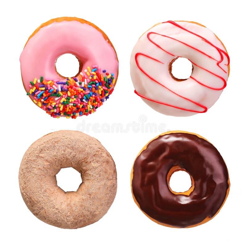 Isolerad Donutssamling arkivfoton