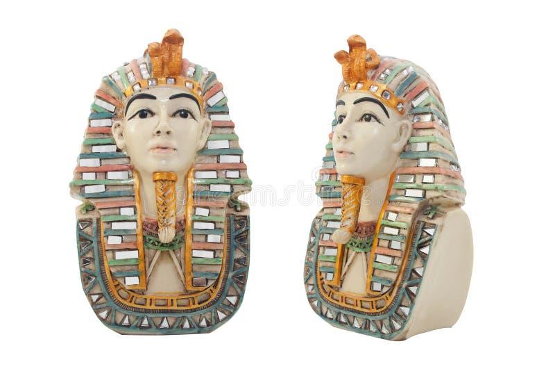 Isolerad egyptisk faraobyst royaltyfri fotografi