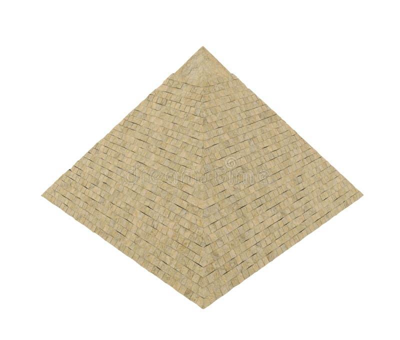 Isolerad egyptisk pyramid vektor illustrationer
