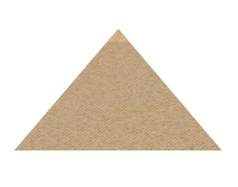 Isolerad egyptisk pyramid royaltyfri fotografi