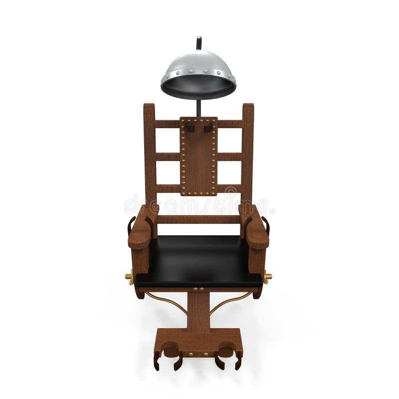Isolerad elektrisk stol royaltyfri illustrationer