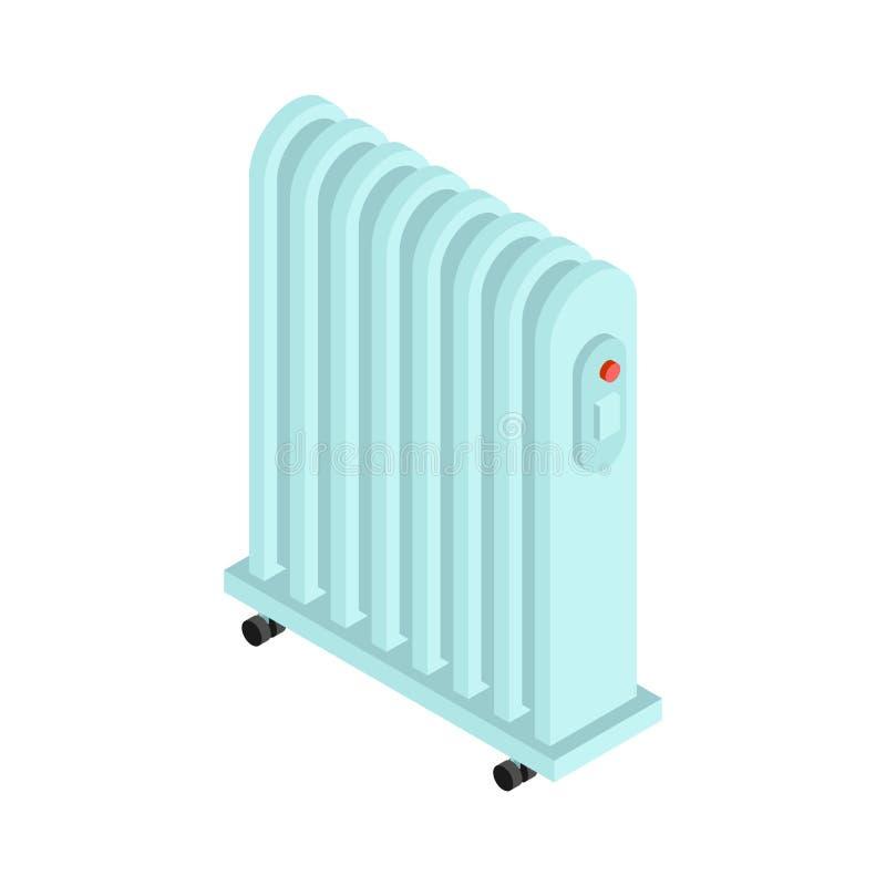 Isolerad elementvärme Elektrisk värma elementvektorillustration stock illustrationer
