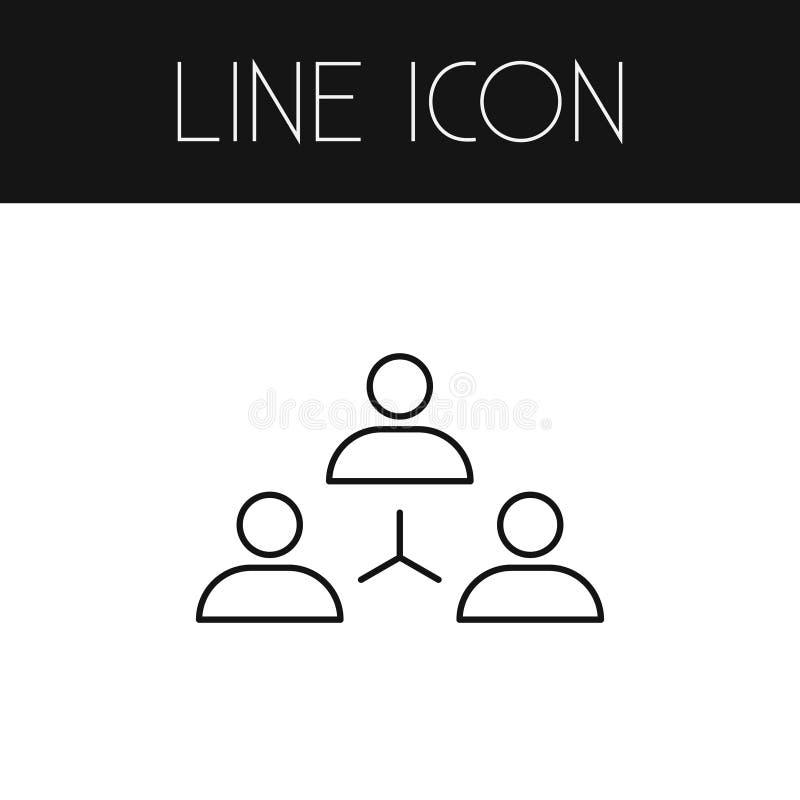 Isolerad enhetöversikt Nätverkandevektorbeståndsdelen kan användas för att knyta kontakt, enhet, gruppdesignbegrepp stock illustrationer