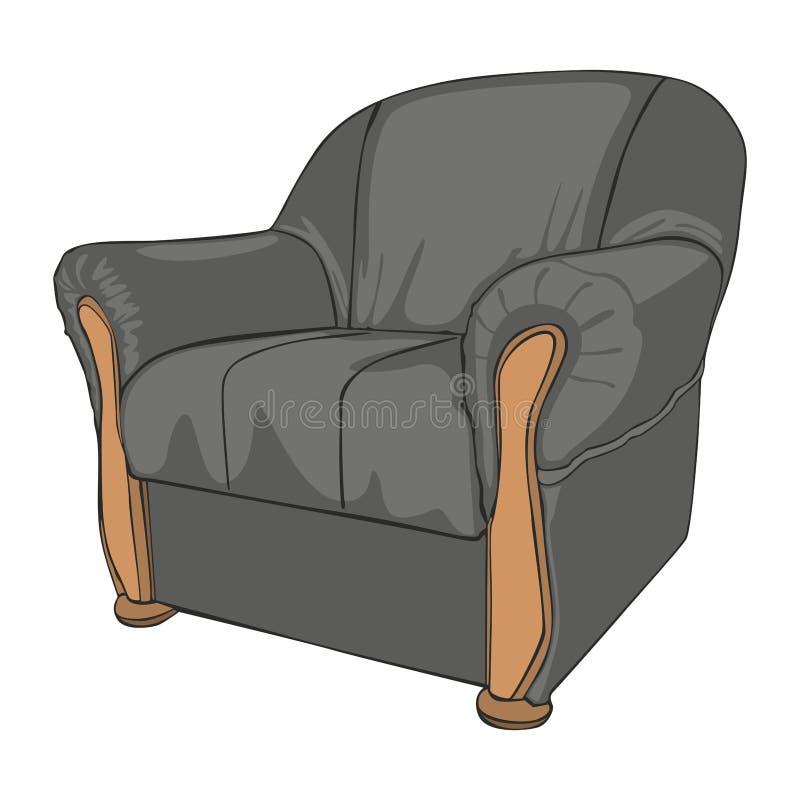 isolerad fåtölj som färgas royaltyfri illustrationer