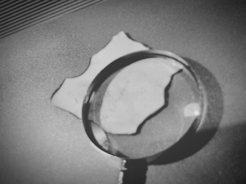 isolerad f?rstorande vektorwhite f?r bakgrund glass illustration arkivfoto