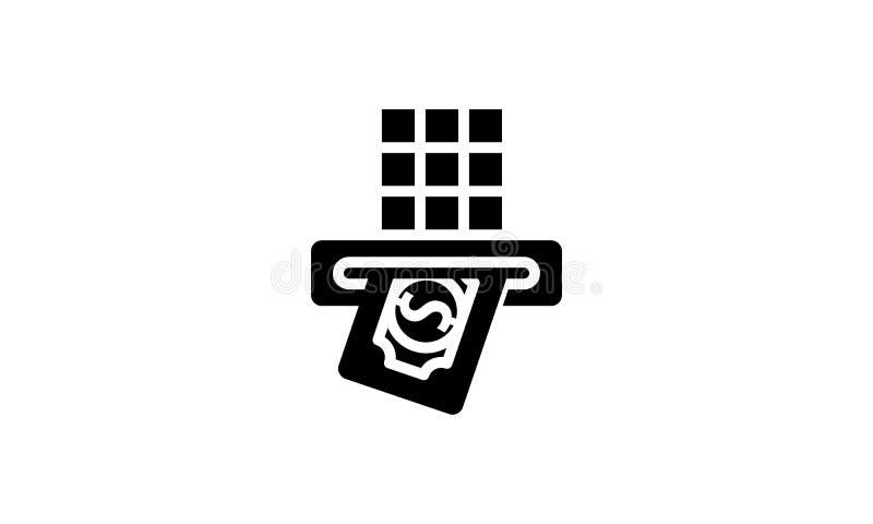 Isolerad fast symbol för pengarmall stock illustrationer