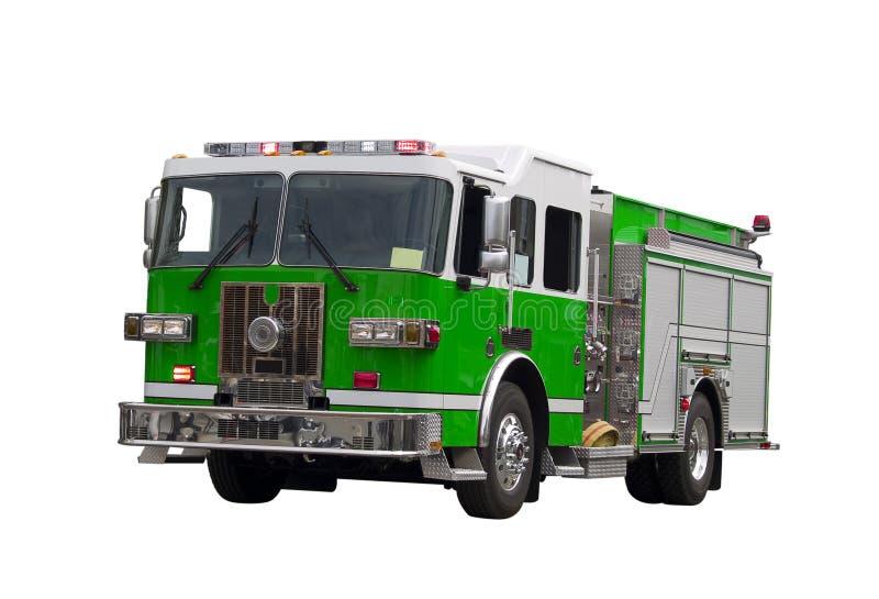 isolerad firetruck royaltyfria foton