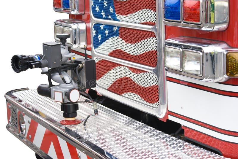 isolerad firetruck arkivfoton