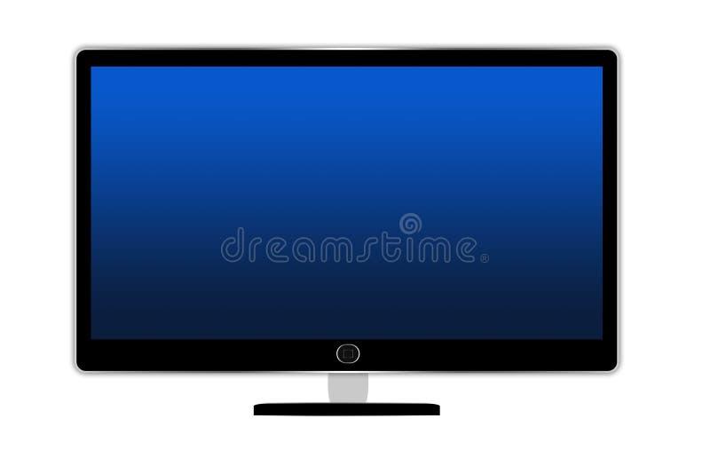 Isolerad FlatscreenTv-uppsättning royaltyfri illustrationer