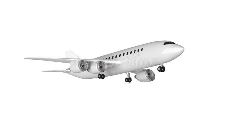 Isolerad flygplanstart, utklipp, vit bakgrund illustration 3d royaltyfri illustrationer