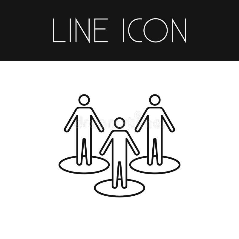 Isolerad folköversikt Partnervektorbeståndsdelen kan användas för partnern, folket, Team Design Concept vektor illustrationer