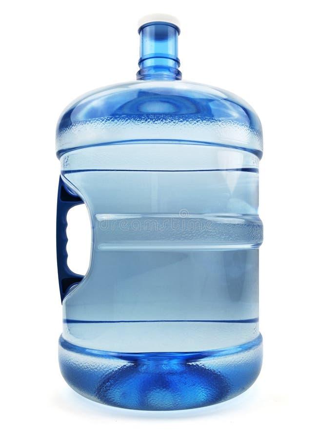 Isolerad gal.flaska för fem vatten royaltyfri fotografi