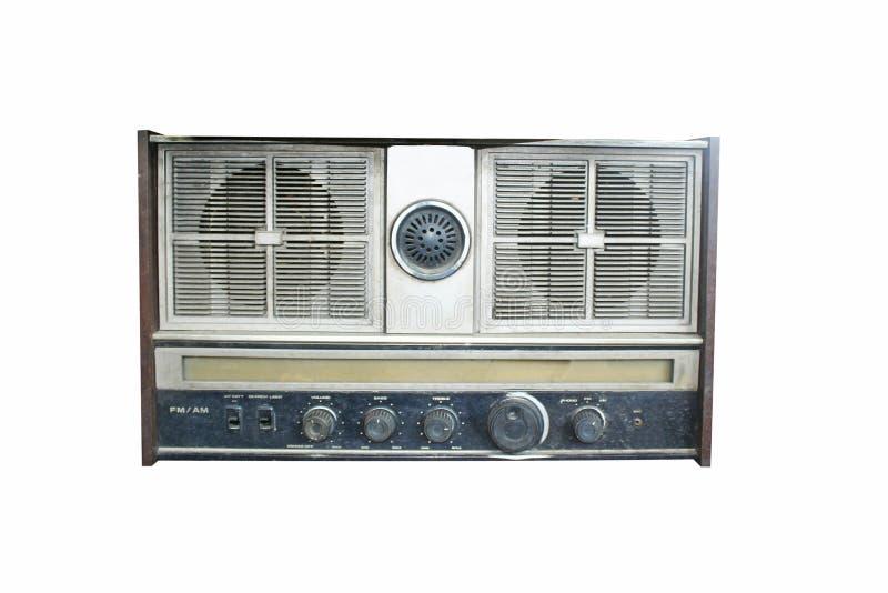 isolerad gammal radio arkivfoton