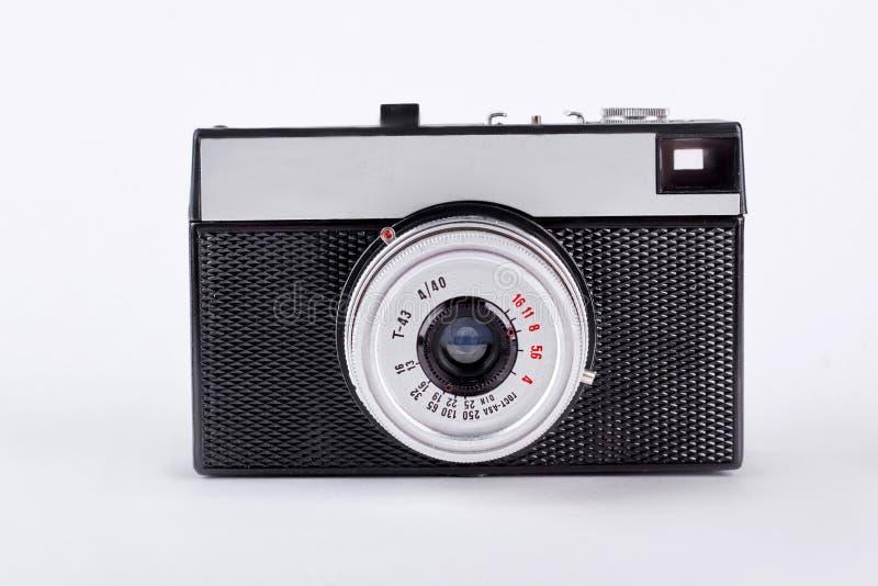 isolerad gammal retro white för bakgrund kamera royaltyfria bilder