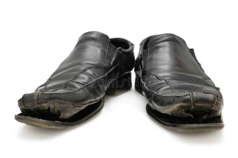 isolerad gammal sko arkivfoto