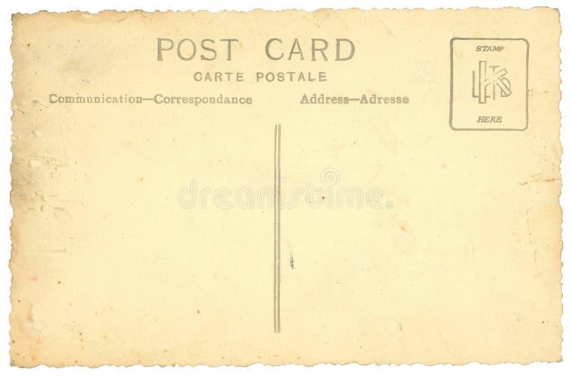 isolerad gammal vykorttappningwhite stock illustrationer