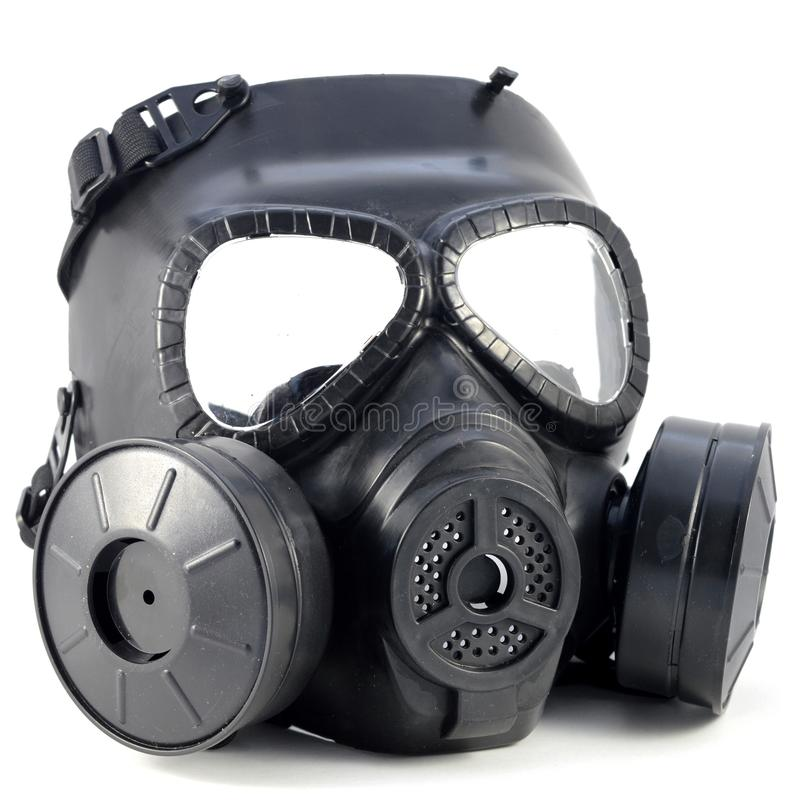 Isolerad gasmask arkivfoto