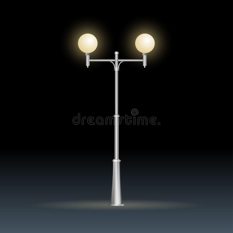 Isolerad gatalampa på vit, elektricitet stock illustrationer